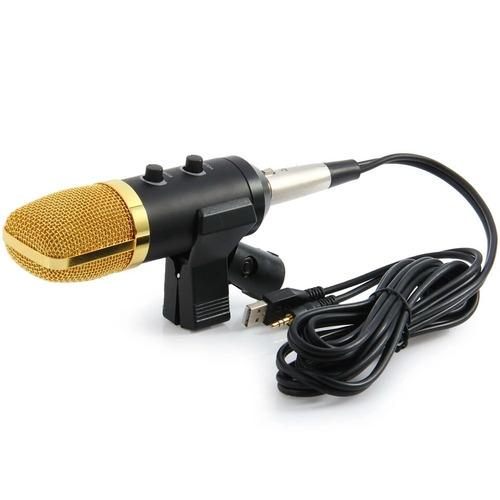 microfono youtuber mk-fl100tl + base + pop + envio gratis