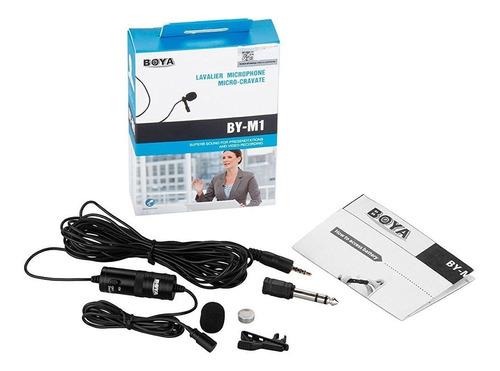 microfono youtuber omnidireccional lavalier boya p/celular