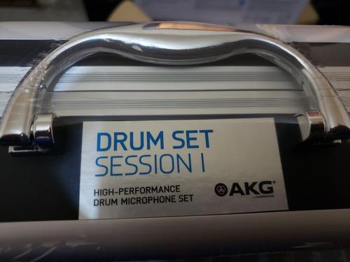 microfonos akg drum session 1 set bateria, kit de 7 micros