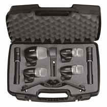 Set 6 Microfonos Bateria Shure Pgdmk6xlr Cable Estuche Yunav