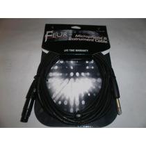 Cable Micrófonos E Instrumentos Feur 6 Mts. (canon-plug)