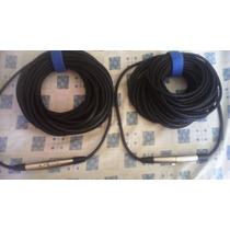 Cable Para Micrófono 50 Metros De Largo Canon Xlr Balanceado