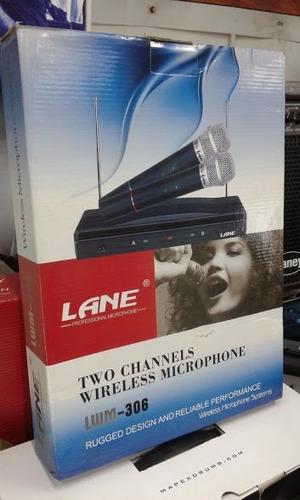 micrófonos doble inalámbricos lane +receptor.