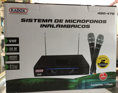 micrófonos inalámbricos aa radox modelo 490-476