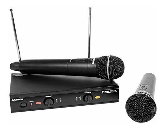SAMSON Dual VHF Handheld Wireless Microphones D Band For Church Sound Systems