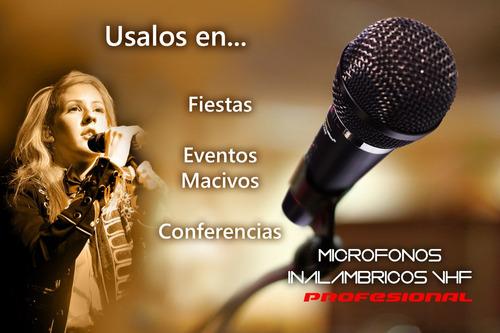 microfonos inalambricos profesional vhf potentes calidad2019