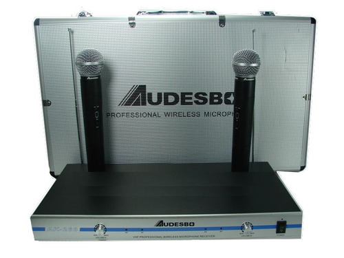 micrófonos inalambricos profesionales vhf audesbo ak-268 myp