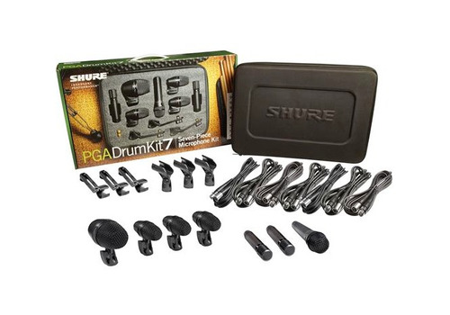 micrófonos shure pgadrumkit7 kit set microfono para bateria