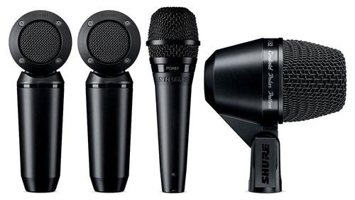 micrófonos shure pgastudiokit4 estudio grabaciones estereofo