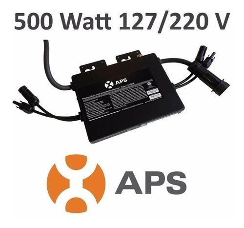 microinversor aps ahorrador de cfe 500w solar 220v p/ casa