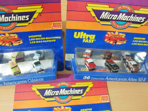 micromachines lote de 3 blister autos clasicos