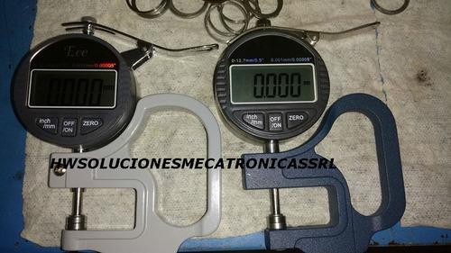 micrometro+ base para medidor de espesores+bateria, nuevo