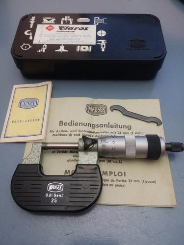 micrómetro externo mauser alemania 0-25 mm