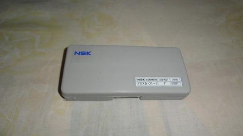 micrómetro marca nsk, japones de 0-1  y 0.0001 presicion