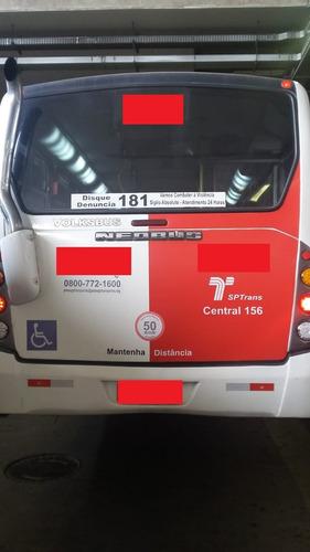 microônibus thander mais volks 9-150 ano 2012 - 2 portas .