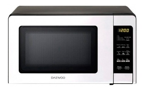 microondas 0.7 litros plateado daewoo kor760ses con garantia