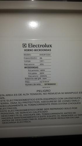 microondas acero inox 28 lts electrolux como nuevo