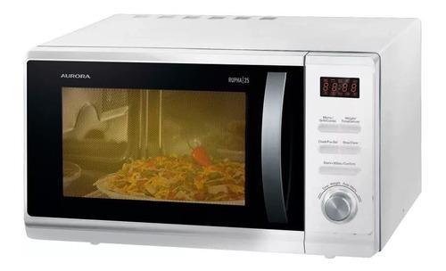 microondas aurora rhupa25b digital 25 lts. grill blanco