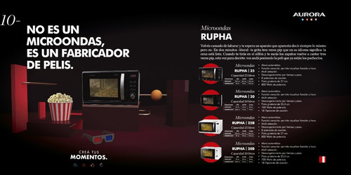 microondas aurora rupha 25b