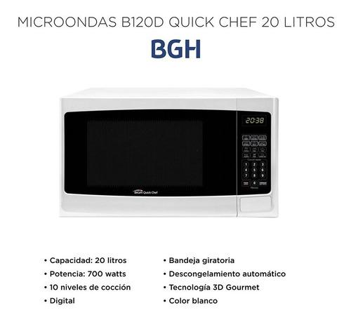 microondas bgh quick chef b120d 20 litros digital - cuotas!