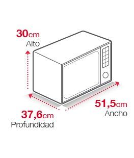 microondas daewoo 1.000w 31 litros kor-rg31mn envio gratis