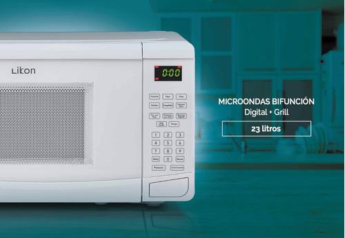 microondas digital likon li23g-s20 con grill 23 lts by bgh