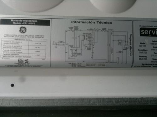 microondas general electric modelo jes1142sfe 1100w usado