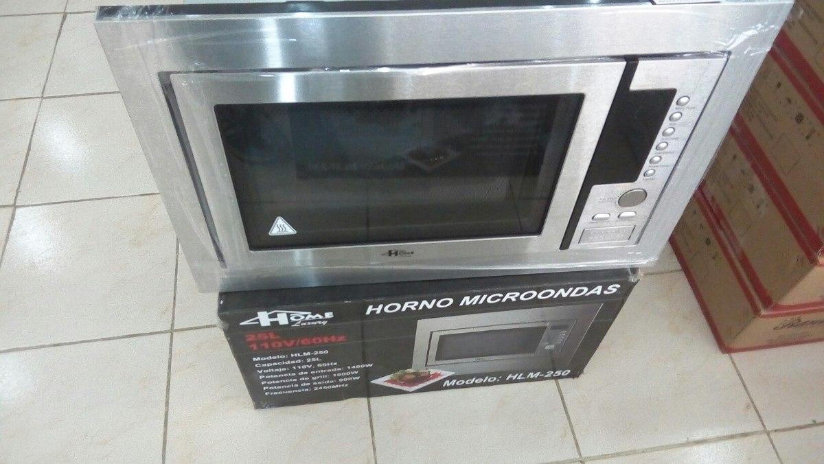 Microondas home luxury para empotrar con marco de 25lt acero bs en mercado libre - Microondas de empotrar ...