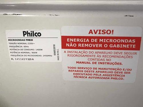 microondas philco pme25 prata 25l 220v