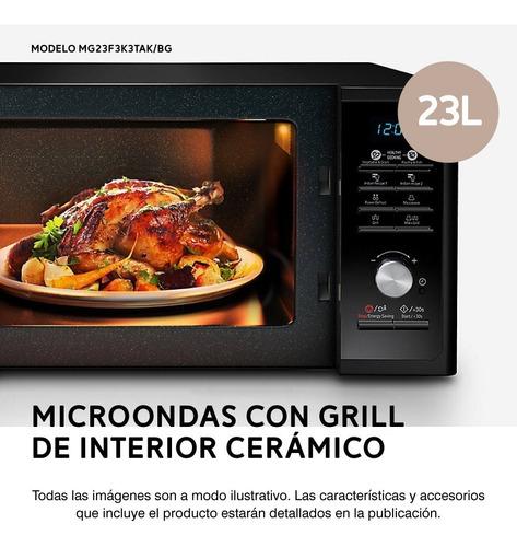 microondas samsung mg23 black ceramica 23 litros grill pce