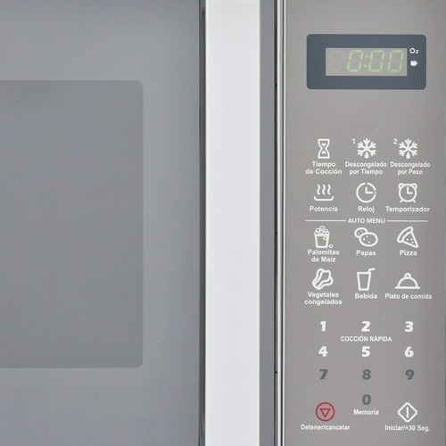 microondas smc silver 0.7 20lt panel touch tapa espejo nuevo