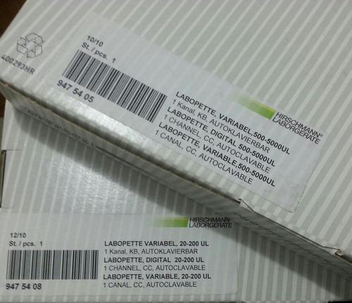micropipeta automática autoclavable 500-5000 ul germany