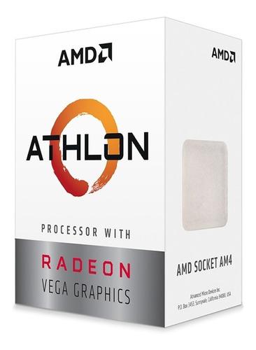 microprocesador amd athlon 200ge vega 3 am4 3.2ghz gamer