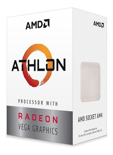 microprocesador amd athlon 200ge vega 3 am4 3.2ghz gamer
