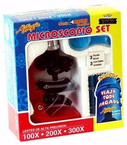 microscopio 100x 200x 300x c/ accesorios mi alegría