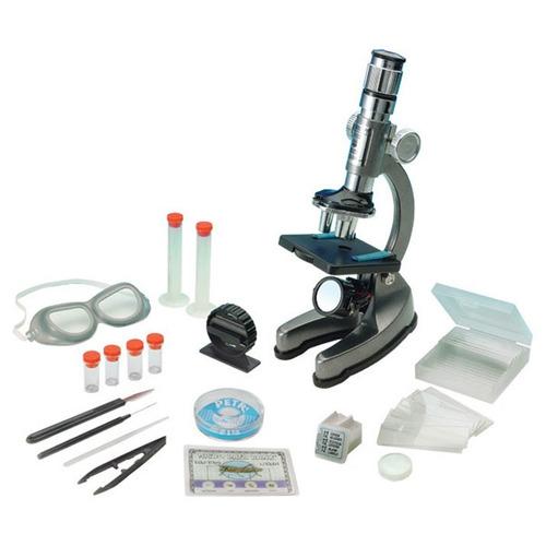 microscopio 900x metálico incluye luz 67 piezas y 4 muestras