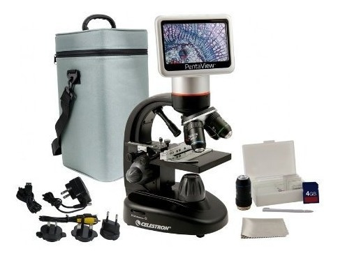 microscopio celestron pentaview 5 mp lcd digital