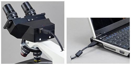 microscopio compuesto omax 40x-2000x digital binocular bioló