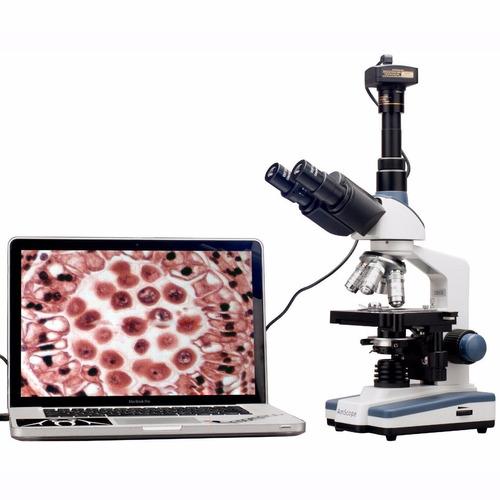 microscopio compuesto t120b-3m digital amscope +envio gratis