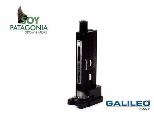 microscopio con enfocador y luz led soy patagonia grow
