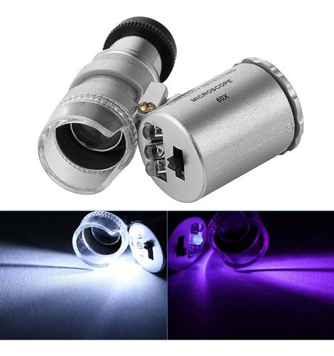 microscopio con led uv de bolsillo 60x - electroimporta
