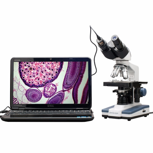 microscopio digital 40x-2500x 3d, usb camara 5mp profesional