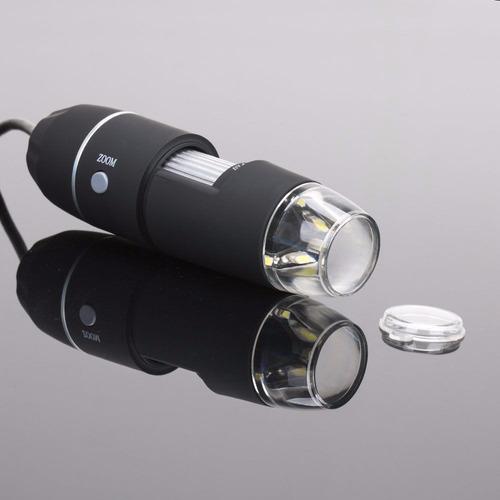 microscopio digital electronico portatil 8 led 1000x usb w01