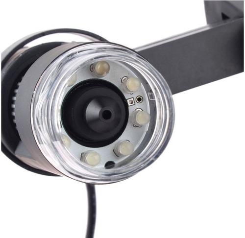 microscopio digital usb 1000x - 25x zoom 2mp luz foto video