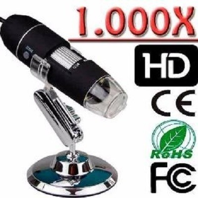 microscopio digital usb 1000x aumento lupa zoom camera hd mu