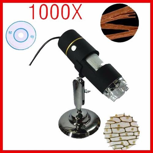 microscopio digital usb 1000x zoom optico camara 8 luz led