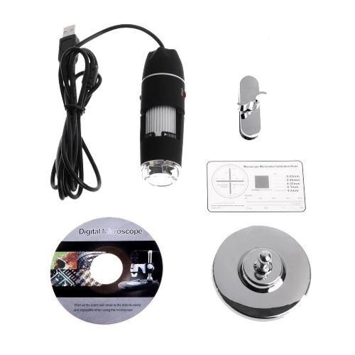 microscopio digital usb 1600x video camara 8 led 2 mpx compu