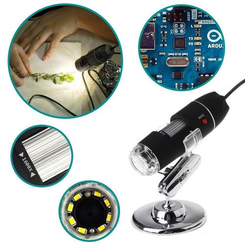 microscopio digital usb electronico 40-1600x  envío gratis