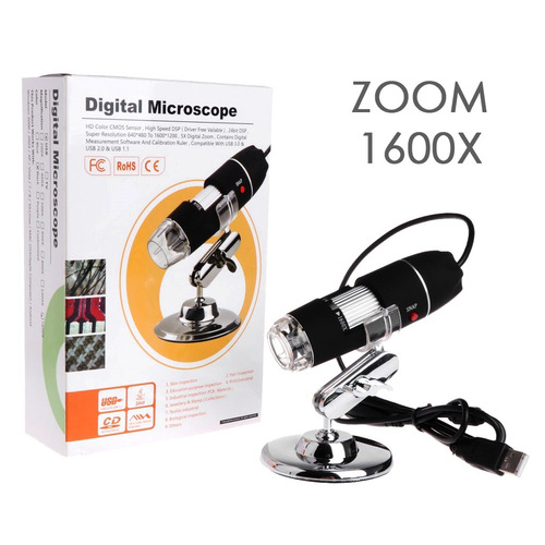 microscopio digital usb electronico 40-1600x  luz led