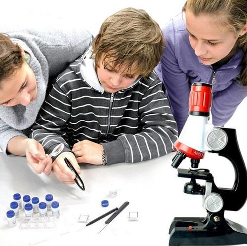microscopio educativo niños 1200x escuela hogar kit completo